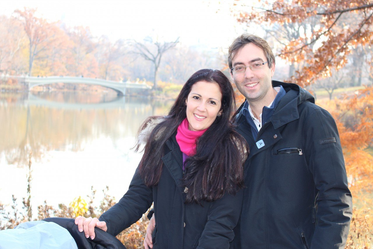 una mattina a central park, New york, central park bow bridge