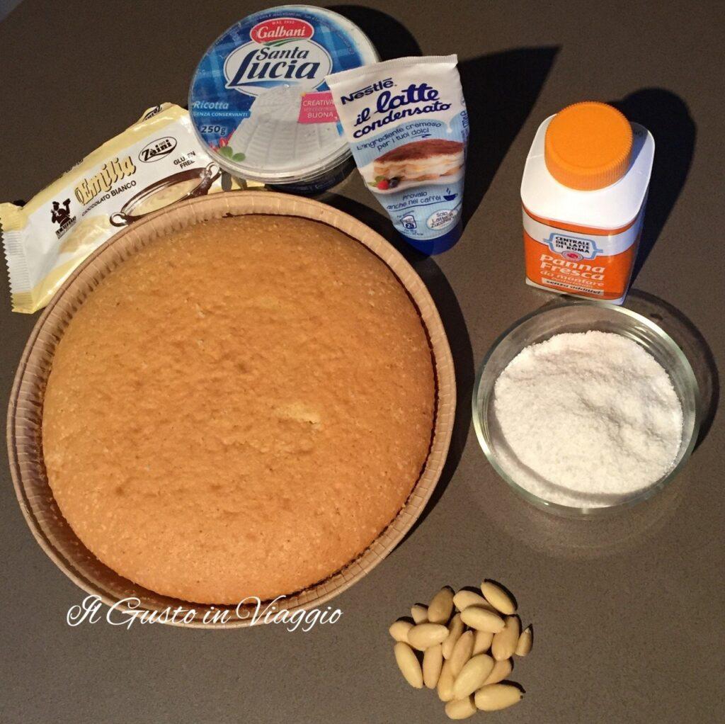 ingredienti torta raffaello