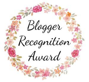 blogger recognition award