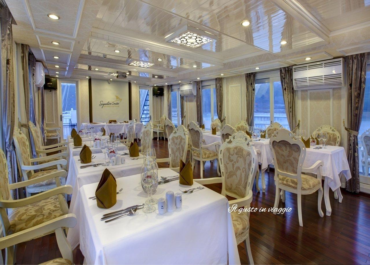 ristorante signature cruise crociera nella baia di halong vietnam