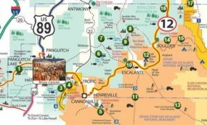 infografica bryce canyon map visitare il bryce canyon