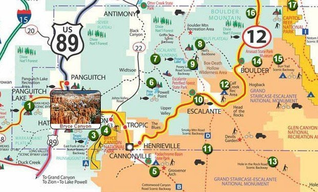 infografica bryce canyon map visitare il bryce canyon