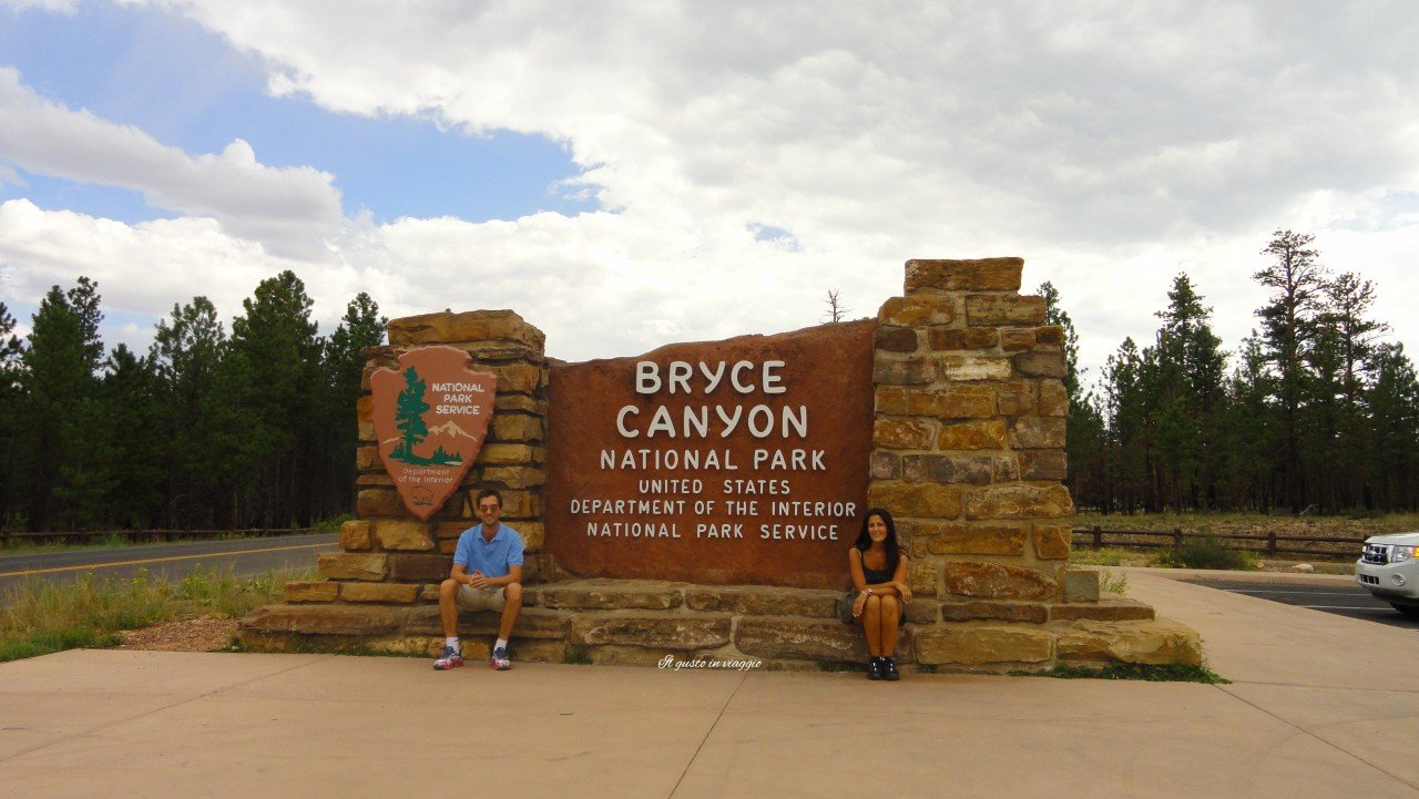 visitare il bryce canyon national park insegna ingresso