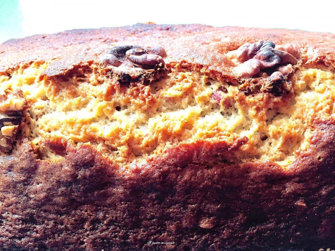 banana bread con noci, banana plumcake, plum cake