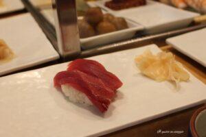 maguro nigiri sushi di tonno tokyo mercato del pesce di tokyo tsukiji