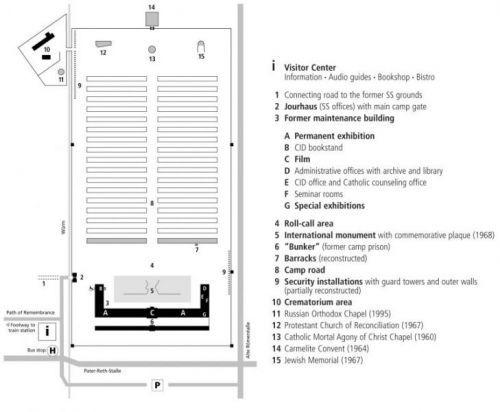 mappa campo concentramento dachau giornata della memoria ebrei visita al campo di concentramento di dachau
