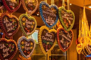 gingerbread biscotti pan di zenzero mercatini di natale di monaco di baviera germania