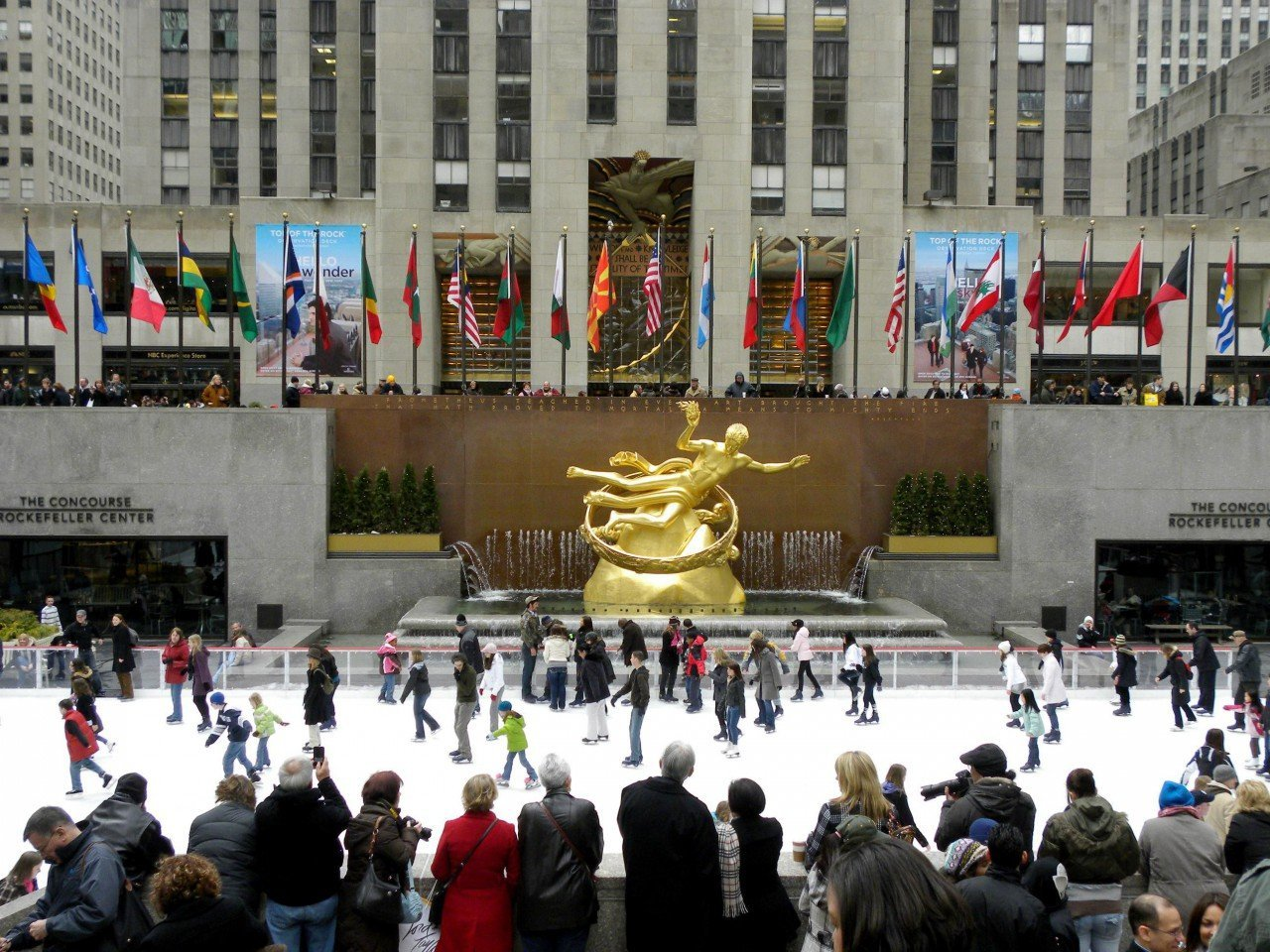 the rink rokefeller center le vetrine di natale di new york