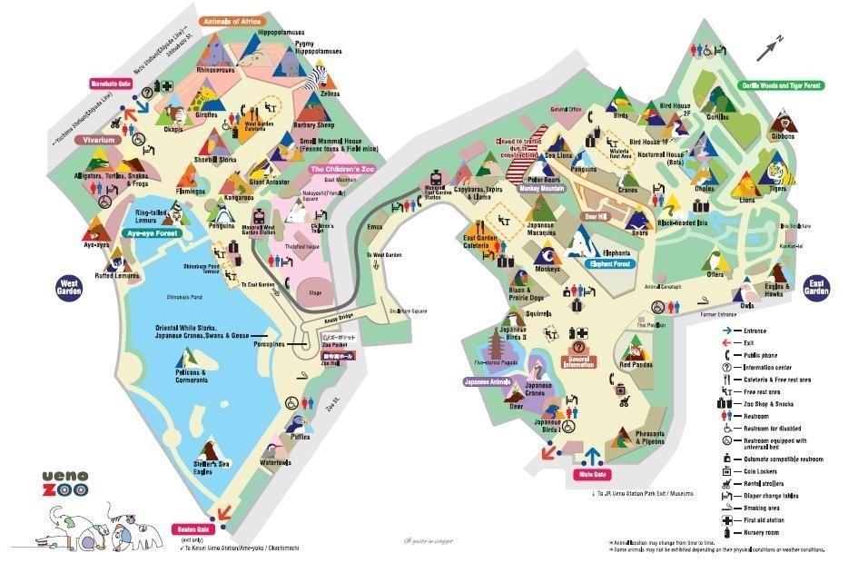 ueno zoo tokyo map