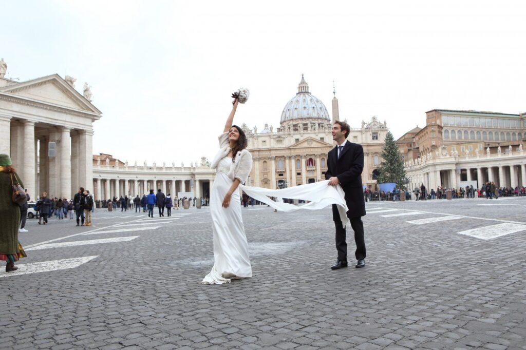 due giorni a roma, matrimonio a piazza san pietro roma