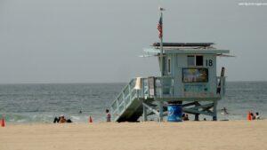 spiaggia di santa monica, santa monica beach california,