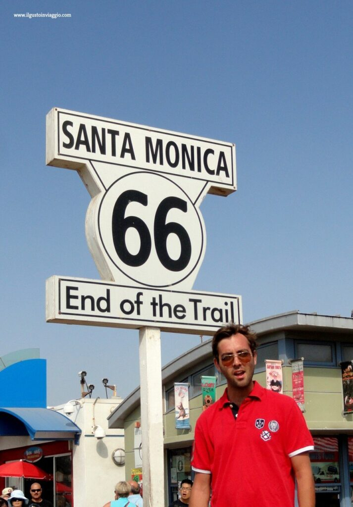 end of route 66, spiaggia santa monica, santa monica beach