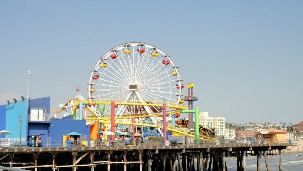 los angeles con i bambini, spiaggia di santa monica, santa monica pier california,