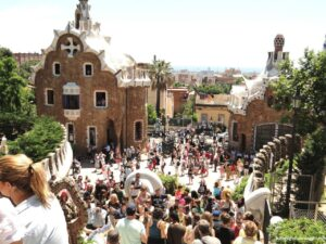 parco guell, week end a barcellona