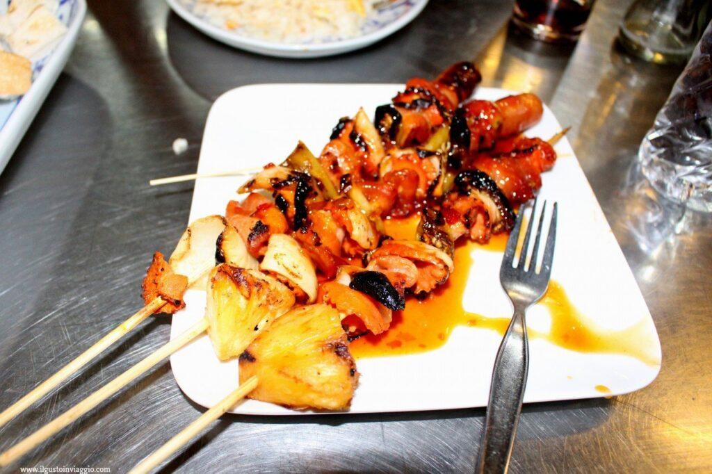 cucina thailandese, spiedini thai,