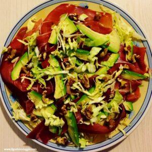 insalata avocado speck e noci