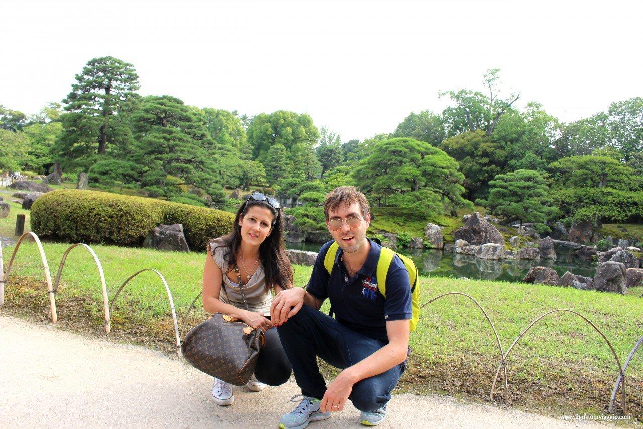nijo castle garden, visita al nijo castle