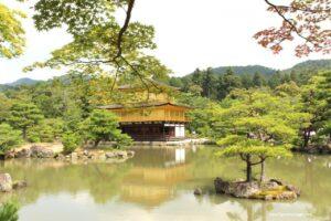 visita al padiglione d'oro di kyoto, kinkaku ji kyoto
