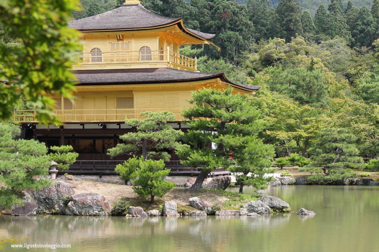 visita al padiglione d'oro di kyoto, kinkakuji