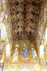 visita alla cappella palatina di palermo con i bambini, soffitto cappella palatina palermo,