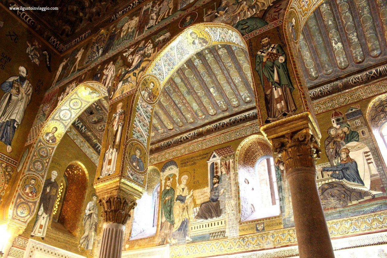 mosaici cappella palatina, visita alla cappella palatina di palermo con i bambini