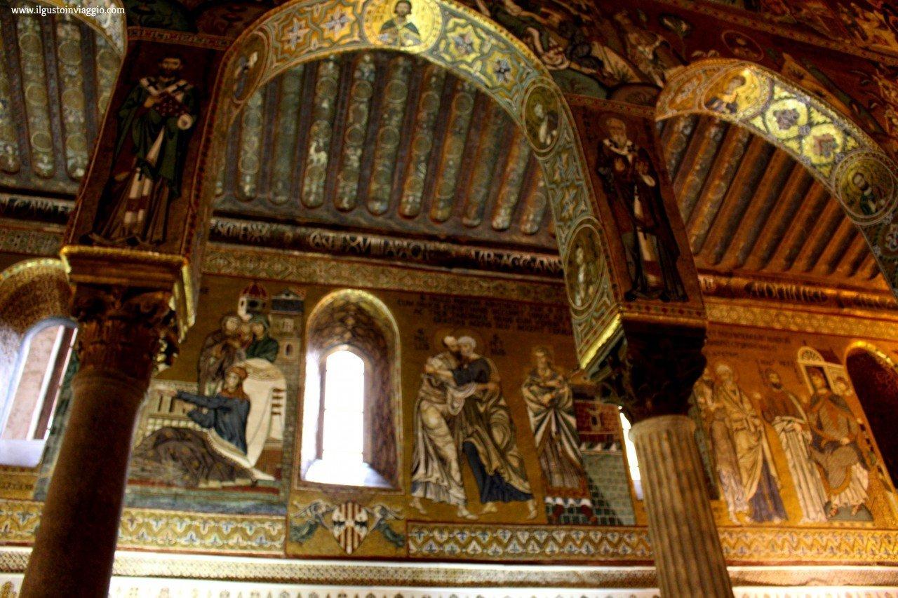 visita alla cappella palatina di palermo con i bambini, mosaici cappella palatina