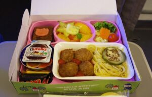 pappa in aereo, fly meal, baby meal