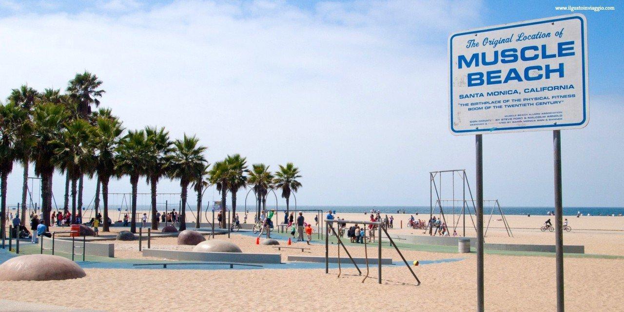 muscle beach, santa monica muscle beach, spiaggia di santa monica