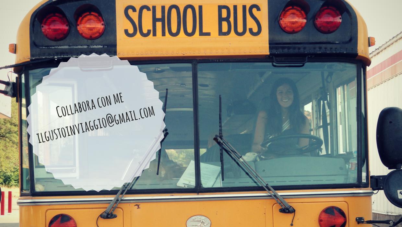 collabora con me, usa, school bus,