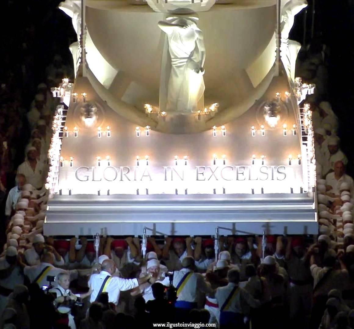macchina santa rosa, viterbo, trasporto della macchina di santa rosa di viterbo, trasporto 3 settembre