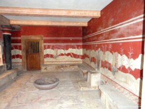 sala trono palazzo knosso, visitare il palazzo di cnosso, sala trono cnosso
