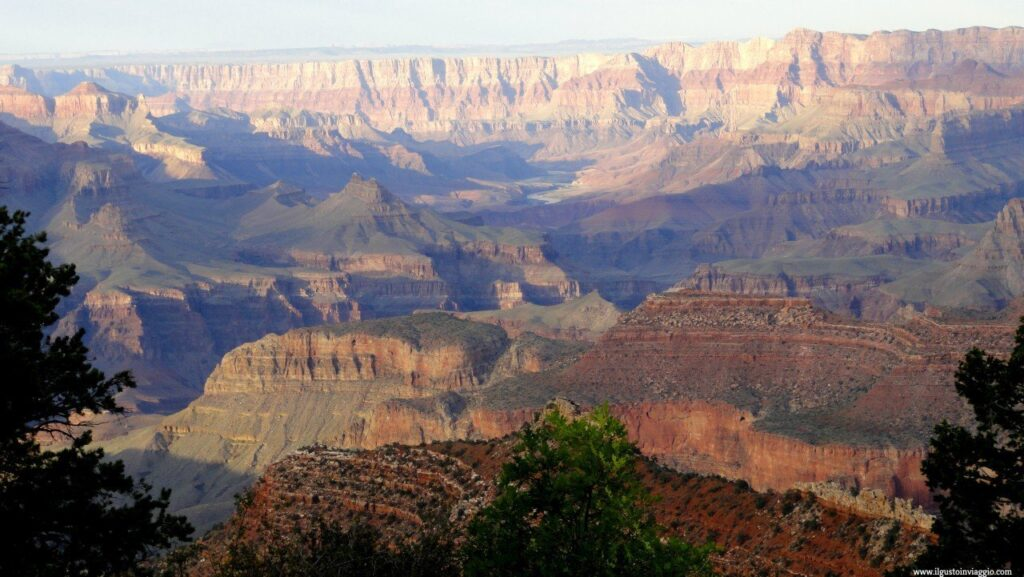 grand canyon south rim, desert scenic view