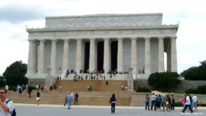 lincoln memorial di washington dc, lincoln memorial,