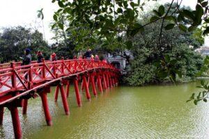 ponte rosso hanoi, due giorni a hanoi, cosa vedere hanoi, lago spada restituita