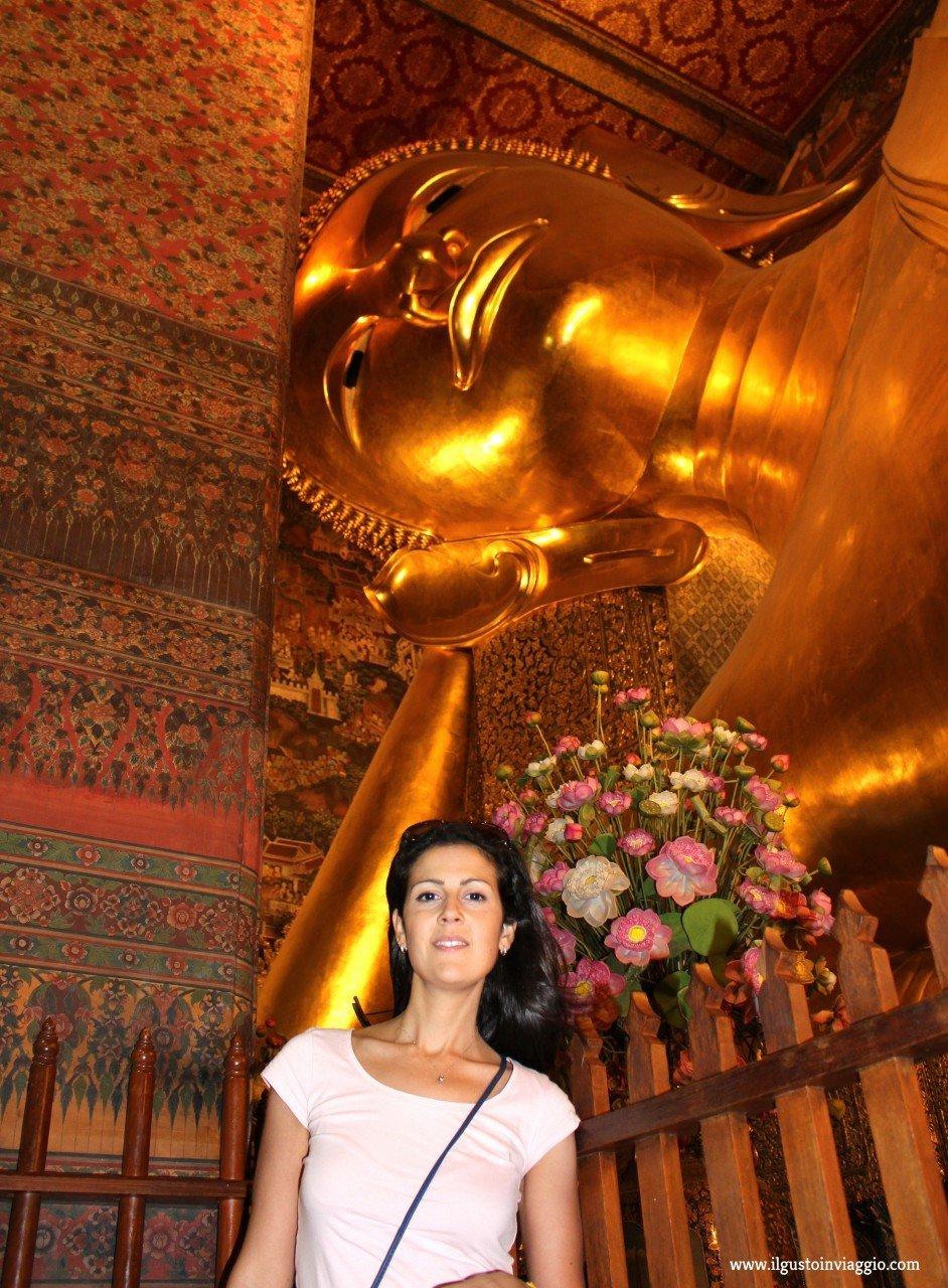 buddha sdraiato del wat pho, buddha doro wat pho bangkok