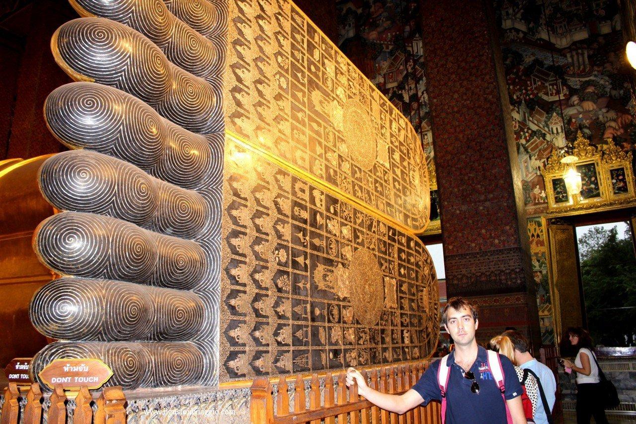 madreperla, buddha sdraiato del wat pho, wat pho bangkok
