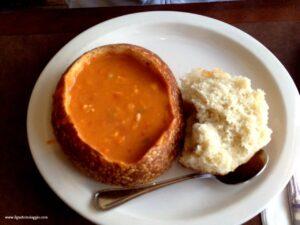 La migliore clam chowder di san francisco, red clam chowder san francisco, pier 39 frisco