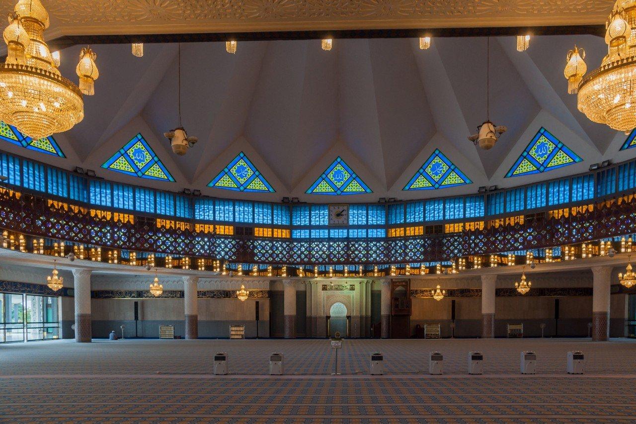 moschea masjid negara di kuala lumpur interno