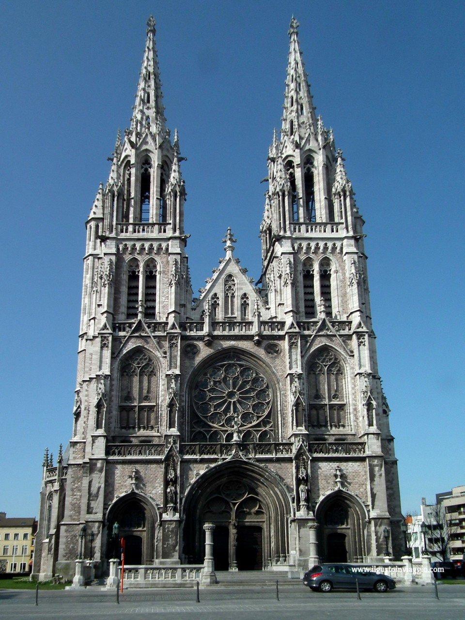 ostenda e il mare del nord, cattedrale di sint peter e paulu