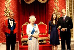 madame tussauds london, museo delle cere di londra, famiglia reale cera