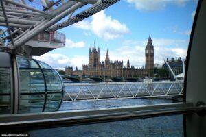 ruota panoramica londra, London Eye, londra dal London Eye
