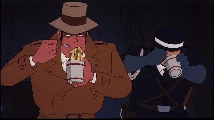 lupin III lupin terzo, cartone lupin ramen, ramen cartoni animati, cosa mangiare in giappone, ramen