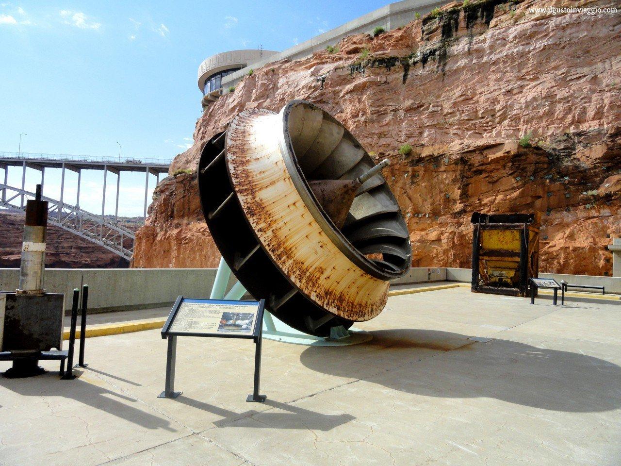 diga del glen canyon, glen canyon dam, turbina centrale idroelettrica