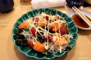 insalata di sashimi, sashimi, cosa mangiare in giappone