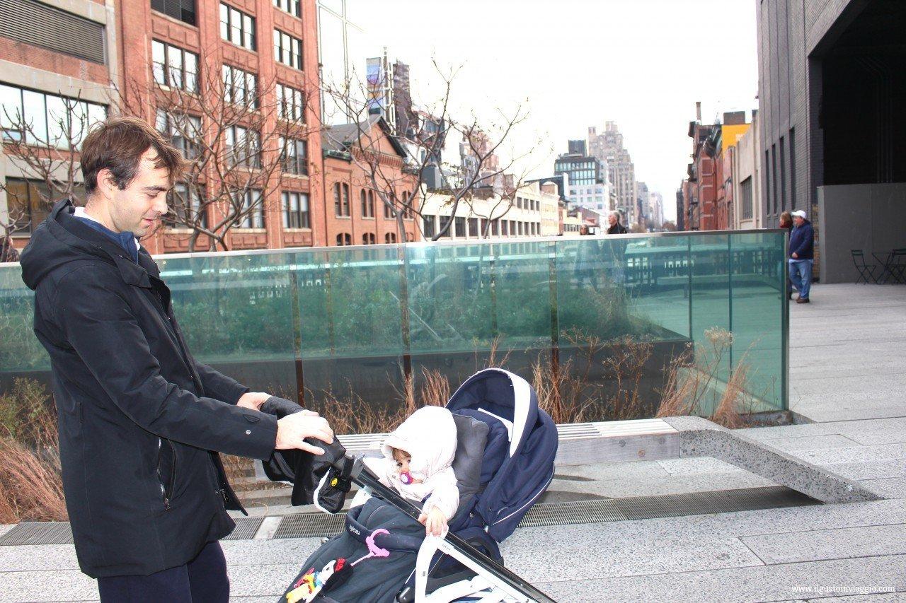 new york con il passeggino