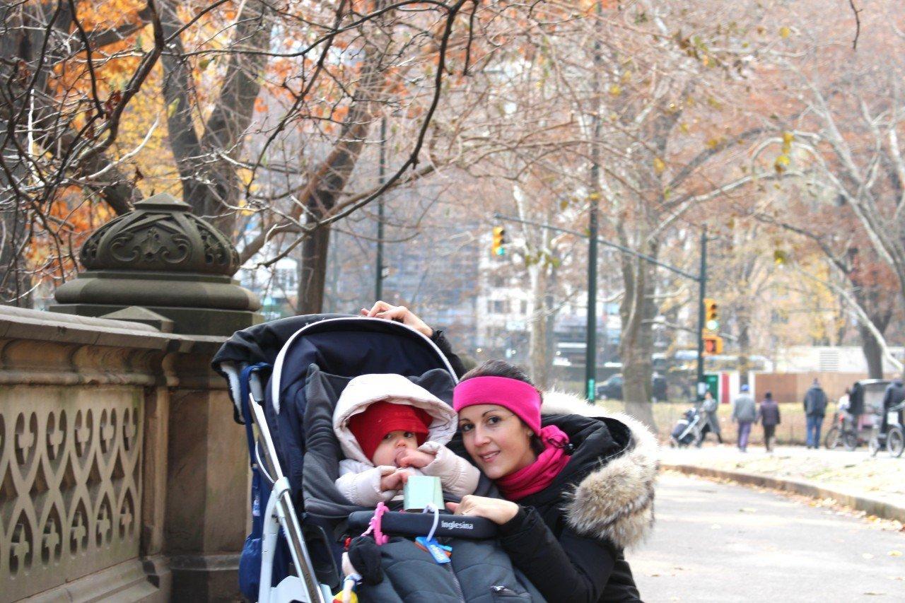 central park, new york con il passeggino
