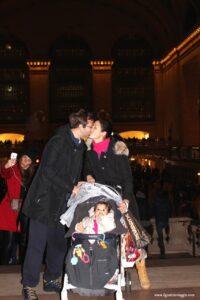 grand central station, new york con il passeggino, love christmas