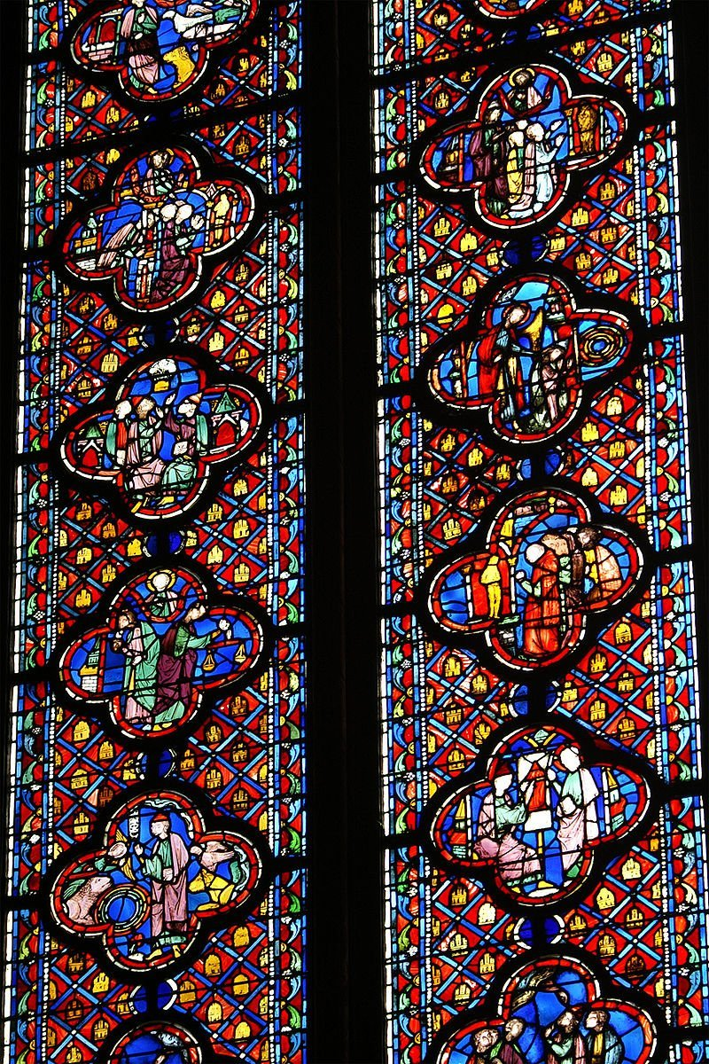 visitare la sainte chapelle di parigi, sainte chapelle Details_Vitrail_Mur_Sud