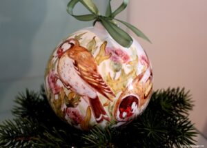 palla di natale, natale decorazione, buongiorno ceramica