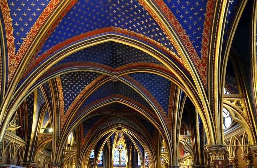sainte chapelle, visitare la sainte chapelle di parigi, capella inferiore sainte chapelle